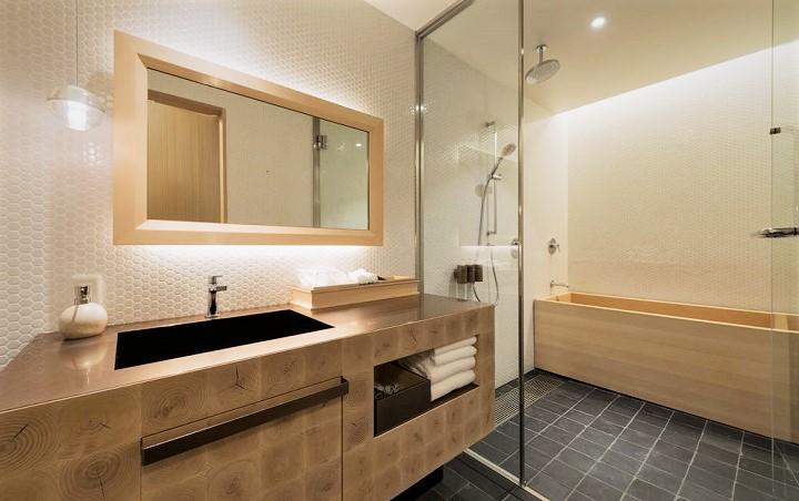 ホテル カンラ 京都 バスルーム